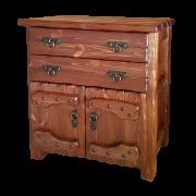 """Комод деревянный """"Барин 1"""" (2 ящика+2 двери) с элементами ковки"""